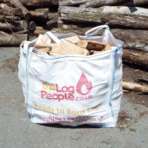 Cheap seasoned ready to burn loose softwood logs from The Log People