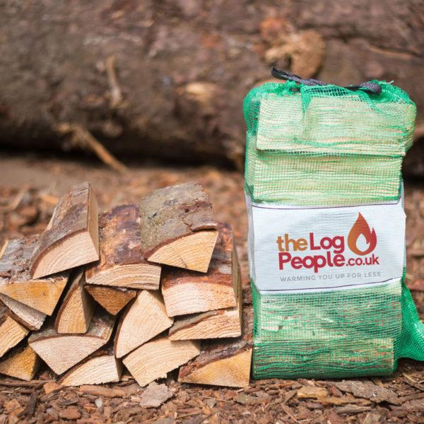 Ready to burn seasoned logs – Nets