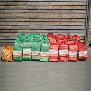 The Log People Half n half firewood bundle with softwood and kiln dried hardwood