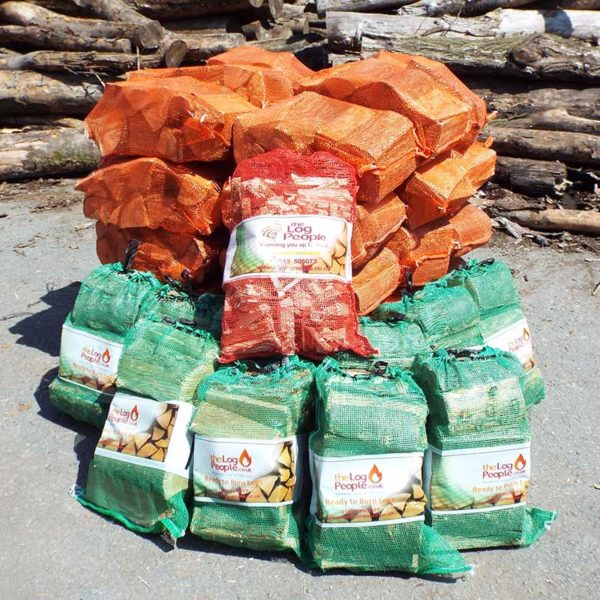 Best Of Both netted firewood logs bundle with softwood and hardwood