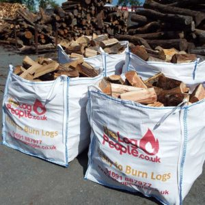 Best Of Both hardwood and softwood loose firewood logs bundle from The Log People