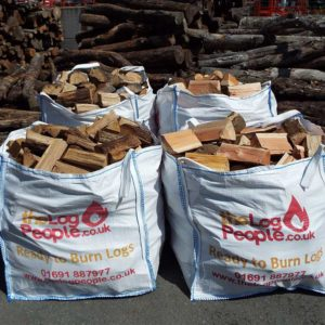 Half and Half softwood and hardwood loose firewood logs bundle from The Log People