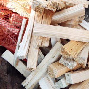 Kindling for fire pits and chimineas