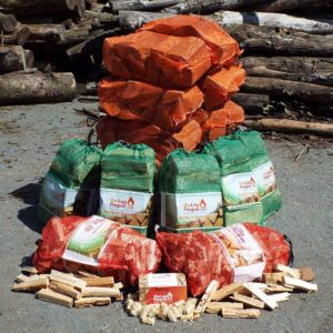 Premium Firewood Logs Starter Pack with hardwood and softwood from The Log People