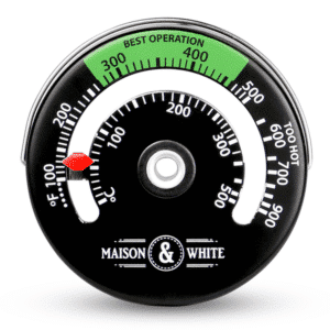 M&W magnetic stove thermometer as used by The Log People