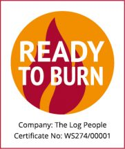 The Log People Ready To Burn certificate number for kiln dried hardwood logs