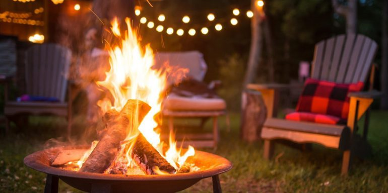 How to light a fire pit without the smoke
