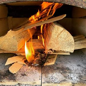 Kiln dried softwood logs to build fire in fire pit